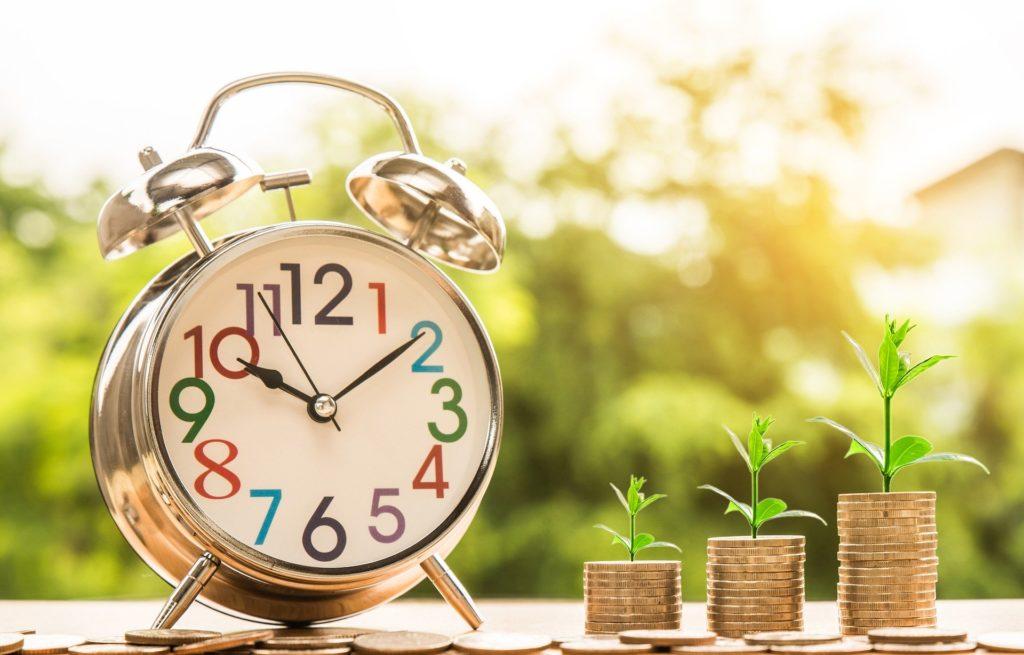 clock with money