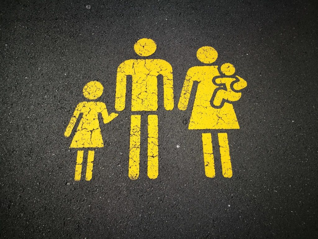 Stencil of Family
