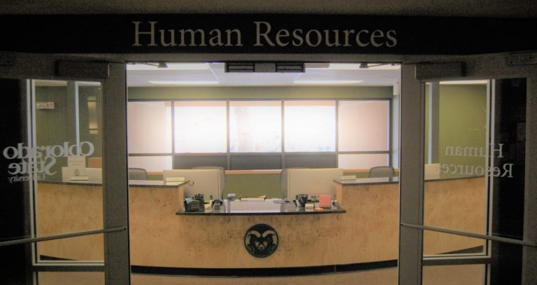 Service Center front desk of Human Resources department