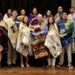 Group picture of Native American students and Tribal Leader